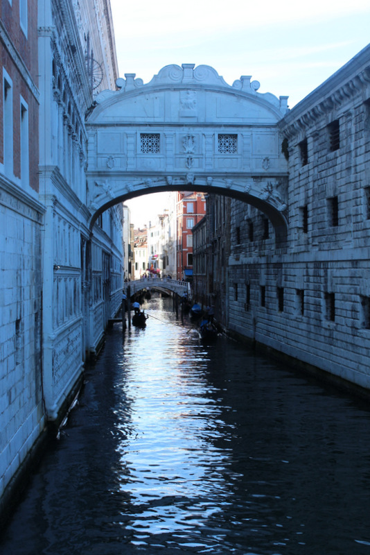 View of the bridge of Sighs